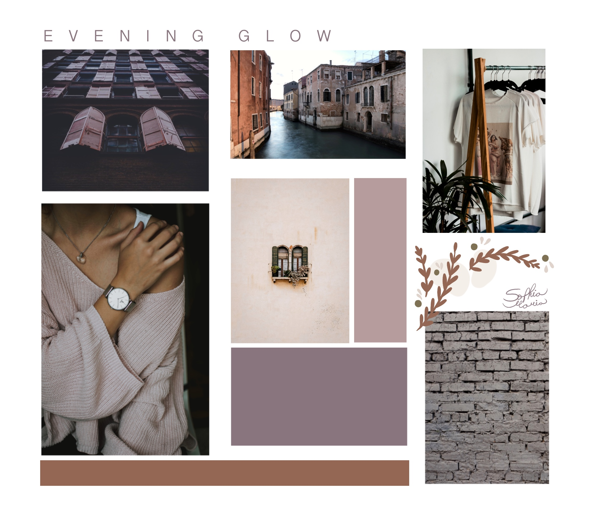 mood board, colors that work well together